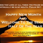 Happy new month & Welcome to the second half of the year 2017
