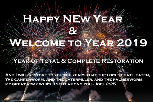 Happy New Year and Welcome to Year 2019