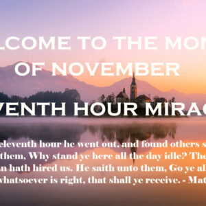 Welcome to the Month of November
